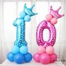 生日數字立柱氣球兒童周歲寶寶生日派對裝飾布置【時尚大衣櫥】
