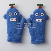 男童保暖手套 3-4-5-6歲小朋友手套男童冬季保暖加厚加絨 俏女孩