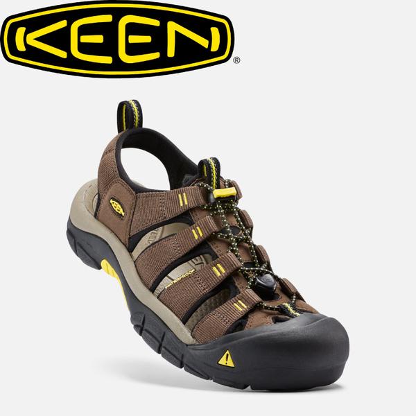 【KEEN 美國 男款 護趾涼鞋《咖啡/黃》】1016285/水陸兩用鞋/涼鞋/休閒涼鞋★滿額送