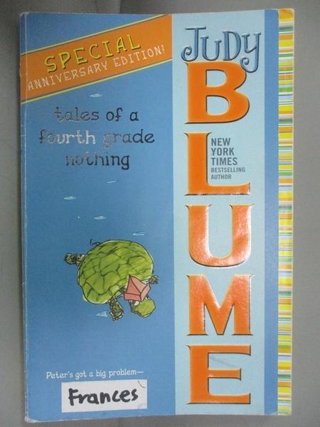 【書寶二手書T1/原文小說_IHN】Tales of a Fourth Grade Nothing_Blume, Judy
