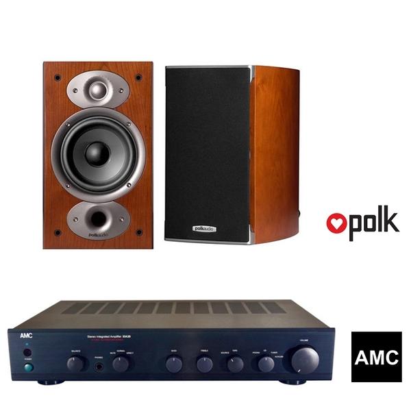 美國 Polk Audio RTiA3 書架式喇叭 環繞喇叭 + AMC XIA30s 立體聲綜合擴大機組