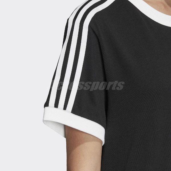 adidas 短袖T恤 Women Originals 3-Stripes Tee 黑 白 女款 卡通眼睛 三條線 【PUMP306】 DV2664