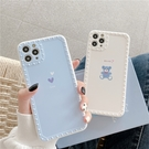 iPhone12 蘋果手機殼 預購 可掛繩 韓國氣質熊熊愛心 矽膠軟殼 i11/iX/i8/i7/SE