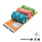 MORINO美國棉數字字母緹花毛巾【愛買】