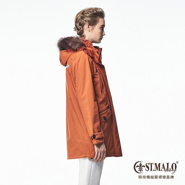 【ST.MALO】Sympatex精品鉑金防護女大衣-1648WJ-磚紅棕