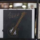 吉它 釘子繞線畫diy材料包成品紗線手工裝飾毛線纏繞畫 弦絲擺件