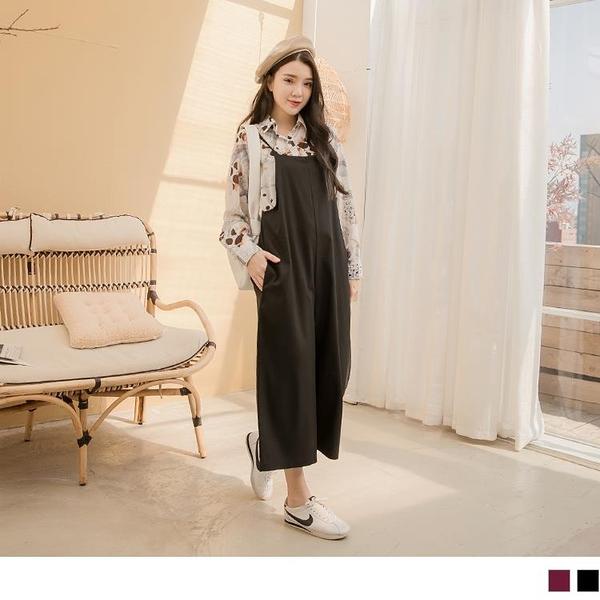 《MA0347-》大口袋棉麻孕婦連身褲/孕婦裝 OB嚴選