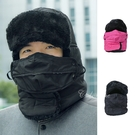 雷鋒帽 滑雪帽 毛帽 自帶口罩 圍脖 冬季 保暖 騎車帽 護耳帽 防寒雷鋒帽【G009-1】米菈生活館