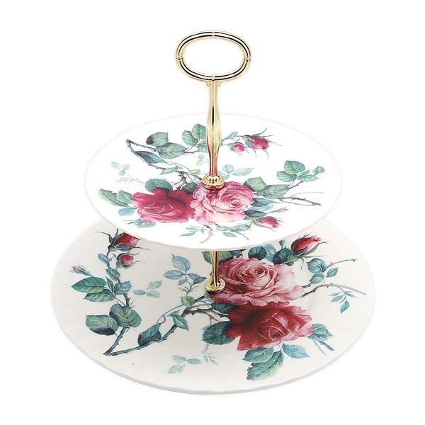 英國Roy kirkham英倫玫瑰-兩層蛋糕盤