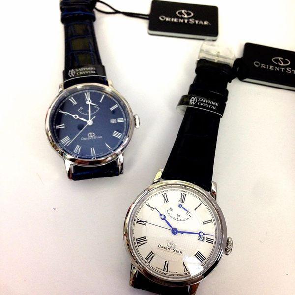 東方之星 ORIENT STAR 羅馬字動力儲存盤皮帶機械錶x39mm深藍・公司貨・SEL09003D