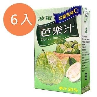 波蜜 芭樂汁 300ml (6入)/組【康鄰超市】
