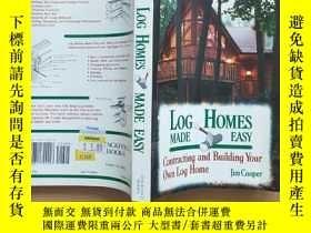 二手書博民逛書店Log罕見Homes Made Easy Contracting