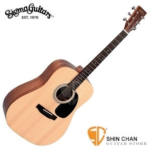 Sigma 吉他 DM-ST 入門強者-41吋單板民謠吉他 (DMST/雲杉面單板/經典D桶身) 附贈吉他袋