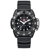 LUMINOX 雷明時Scott Cassell Deep Dive 專業深潛系列腕錶 - 金屬黑x白時標/45mm A1551