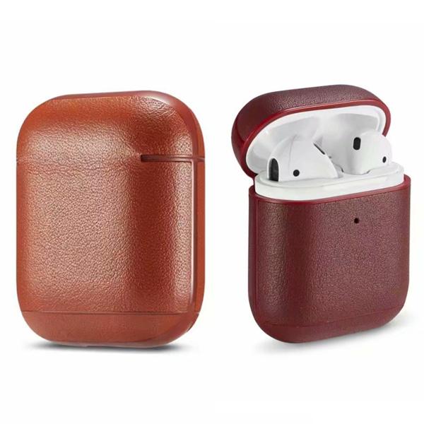 蘋果 皮紋 AirPods 保護套 Apple藍牙耳機盒 保護套 矽膠 軟殼