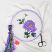 蘇繡刺繡diy 初學套件工具傳統手帕材料包彼岸花刺繡古風刺繡年貨慶典 八折
