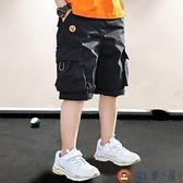 男童短褲中大兒童男孩休閒中褲工裝五分褲夏季【淘夢屋】