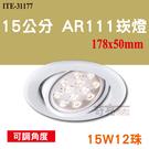 AR111 15W12珠 LED崁燈 嵌燈 15公分崁燈 可調角度 全電壓 【奇亮科技】含稅