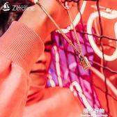 項錬POWER能量金塊男士 個性時尚霸氣日韓版方塊金色鈦鋼情侶吊墜 陽光好物