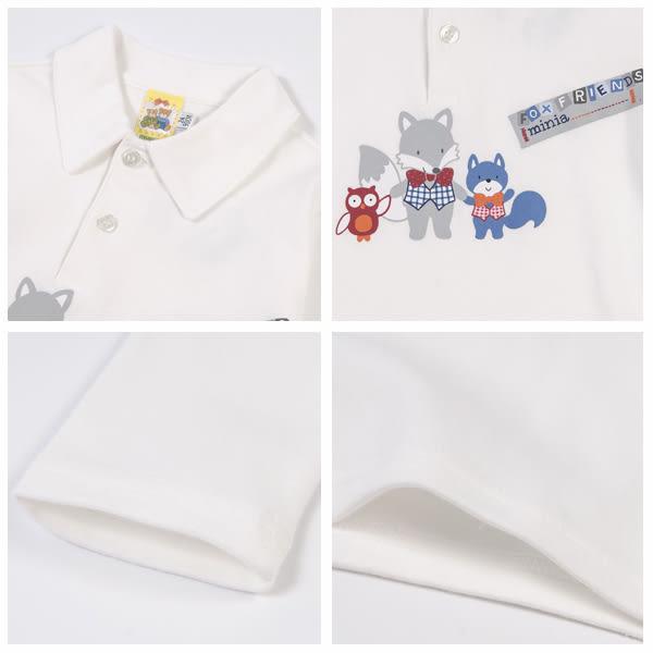【愛的世界】純棉長袖POLO衫/2~3歲-台灣製- ★秋冬上著