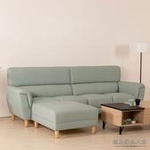 D&T 德泰傢俱 Grace 防潑水耐磨貓抓皮8.6尺L型沙發A001-01