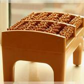 家用足底按摩凳腳搓排 仿木質腳底穴位滾輪工具 腳部經絡刷按摩器 卡布奇諾