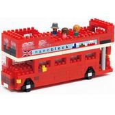 《 Nano Block迷你積木 》NBH-080 倫敦觀光巴士 ╭★ JOYBUS玩具
