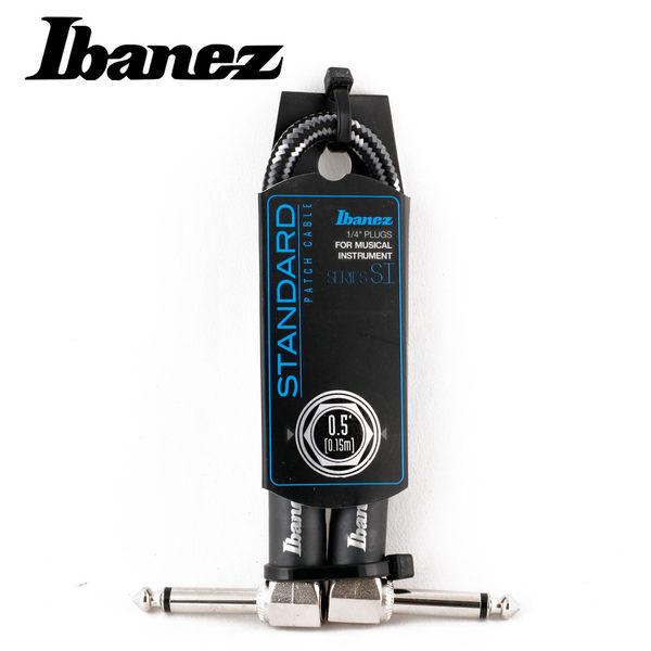 小叮噹的店-IBANEZ SI05P-CCT WOVEN 0.5呎 編織 短導線 (灰白)