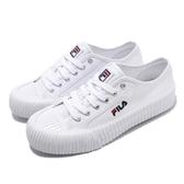 Fila 餅乾鞋 C320T 基本款 白 全白 休閒鞋 經典款 女鞋 運動鞋【PUMP306】 4C320T110
