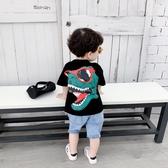男童短袖T恤潮寶寶夏裝半袖上衣洋氣小童兒童夏季打底衫韓版2019