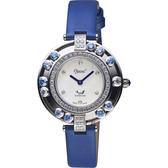 Ogival 愛其華 流光瀲灩高雅珠寶女錶-珍珠貝/34mm 380-45DL藍帶藍寶