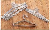 衣架   (10入一組)實心不鏽鋼衣架40cm加厚直徑3.5MM防滑凹槽 外套 洋裝 雪紡 吊帶 【RPE019】-收納女王