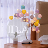 IDEA 浪漫馬卡龍桌燈 燈座 檯燈 夜燈 玫瑰花 生日 情人 簡約 臥室 房間 裝飾 文青 USB 居家 生活