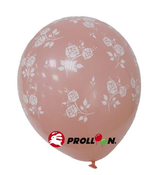 【大倫氣球】12吋-五面印刷 圓形氣球-玫瑰花