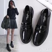 復古黑色樂福鞋 小皮鞋女2019新款春女鞋子英倫風單鞋春款豆豆鞋 BF22307『寶貝兒童裝』