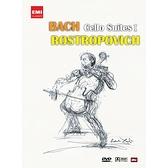 【停看聽音響唱片】【DVD】巴哈無伴奏大提琴組曲1:羅斯托波維奇大提琴演奏