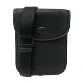 【COACH】專櫃款璇釦滑面牛皮薄型小斜背包(黑)