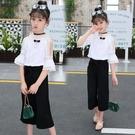 童裝女童夏裝套裝2020新款中大童時尚洋氣夏季兒童寬管褲兩件套潮 滿天星