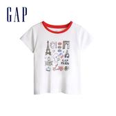 Gap女幼棉質舒適圓領短袖T恤539803-巴黎