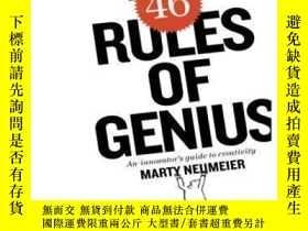 二手書博民逛書店The罕見46 Rules Of Genius: An Innovator s Guide To Creativi