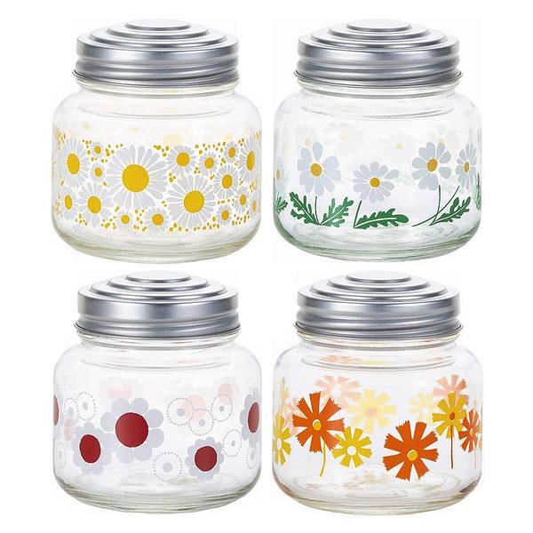 日本ADERIA 昭和復古花朵糖果罐-共4款