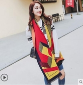 圍巾女秋冬季韓版雙面格子仿羊絨披肩加厚兩用百搭保暖圍脖大披風 優拓