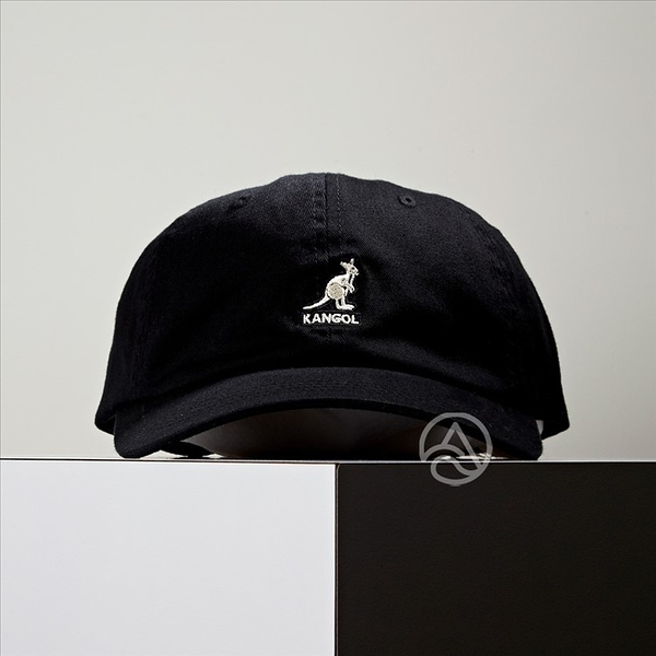 KANGOL Washed Baseball 黑色 老帽 100169220-01
