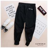 Catworld 腰抽繩鏤空網眼運動七分褲【12001827】‧S-L