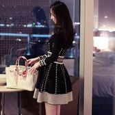 大碼洋裝 大碼女裝胖mm小香風針織連身裙胖妹妹春裝新款顯瘦打底毛衣裙【韓國時尚週】