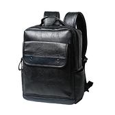 後背包-皮革韓版學生時尚流行男雙肩包73in37【時尚巴黎】