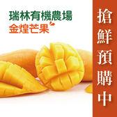 鮮食優多・【瑞林有機農場】限時預購中!!金煌有機芒果(4.5~5斤,約3顆/盒)