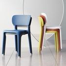 椅子 塑料椅子靠背大人簡易餐桌膠椅加厚現代簡約書桌凳子家用北歐餐椅【幸福小屋】