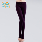 【WIWI】MIT溫灸刷毛踩腳發熱褲(羅蘭紫 女S-2XL)