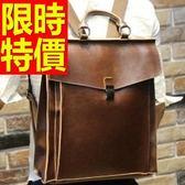 後背包-有型韓風流行皮革男女-雙肩包-1款59ab8【巴黎精品】